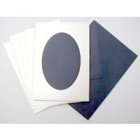 Le Suh Kartenset 5 Stck. silber/blau Diagonale
