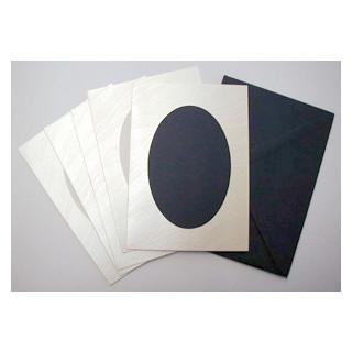 Le Suh Kartenset 5 Stck. silber/blau Tulipana