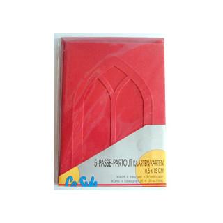 Le Suh Kartenset Passepartout 5 Stck. rot, Fenster