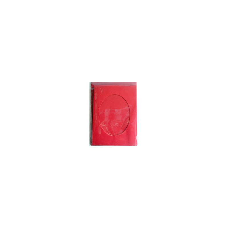 Prandell Kartenset A6 Passepartout 5 Stck. rot, Oval