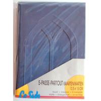 Le Suh Kartenset Passepartout 5 Stck. blau, Fenster