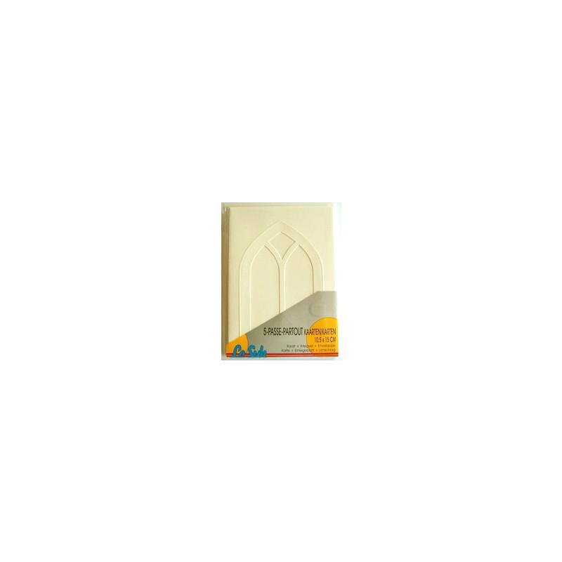 Kartenset Passepartout 5 Stck. creme, Fenster