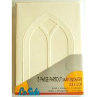 Le Suh Kartenset Passepartout 5 Stck. creme, Fenster