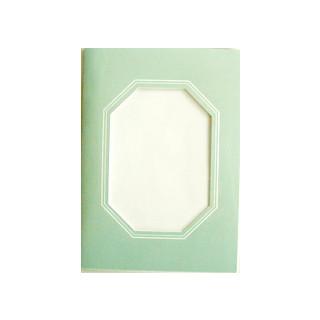 Kartenset Passepartout 1 Stck.blaugruen, Fenster