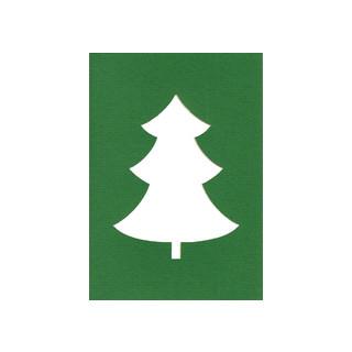 Le Suh Kartenset 5 Stck. Tannenbaum gruen