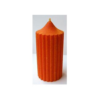 Kerze Deko orange