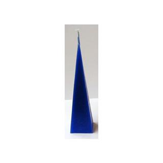 Kerze Kegel blau