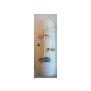 Kerze Taufkerze mit Beschriftung zur hl. Taufe
