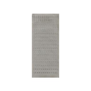 Zahlen in silber 1 cm, Klebeschrift
