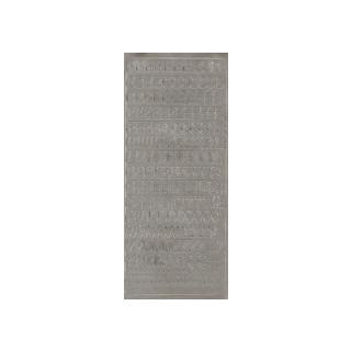 ABC in silber 1 cm, Klebeschrift
