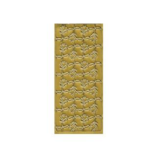 Rosen, in gold, Klebeschrift