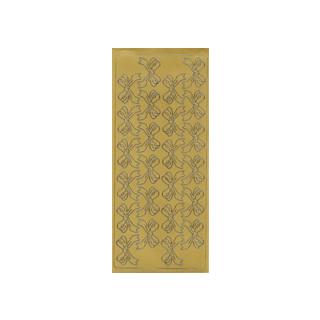 Schleifen, in gold, Klebeschrift