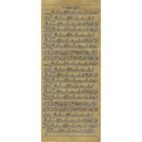 Jubiläen und Zahlen, in gold, Klebeschrift