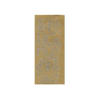 Indianer, in gold, Klebeschrift