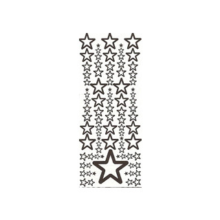 Sterne in gold, Klebeschrift