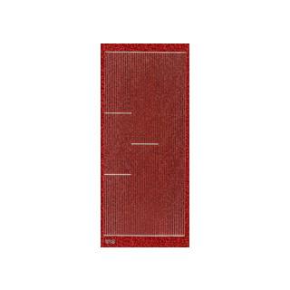 Ziersticker hologr. Streifen rot