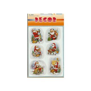 Weihnachtsmann Sticker bunt