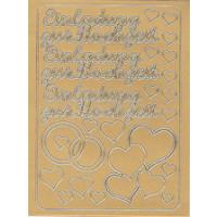 Einladung m. Herzen gold