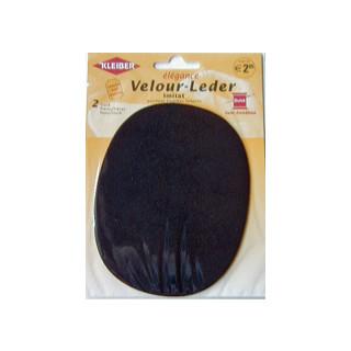 Kleiber Velour-Leder 13x10cm schwarz 2 Stück