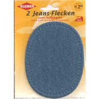Kleiber Jeans-Flecken Oval 2 Stück 100% Cotton...
