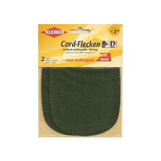 Kleiber Cord-Flecken Oval 2 Stück 100% Cotton 13x10cm grün