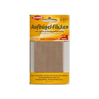 Kleiber Aufbügel-Flicken 100% BW 30x6 cm beige