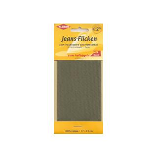 Kleiber Jeans-Flicken 100% Cotton 17x15cm oliv