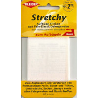 Kleiber Stretchy-Buegel- Flick  100% Polyester 40x6cm weiss
