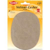 Kleiber Velour-Leder 13x10cm beige 2 Stück