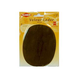 Kleiber Velour-Leder 13x10cm dkl.braun 2 Stück
