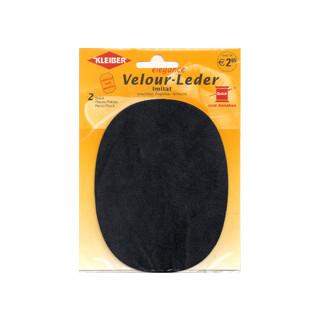 Kleiber Velour-Leder 13x10cm dkl.blau  2 Stück