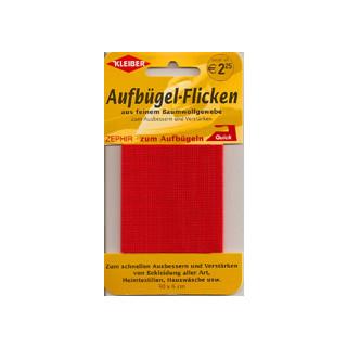 Kleiber Aufbügel-Flicken rot 30x6 cm