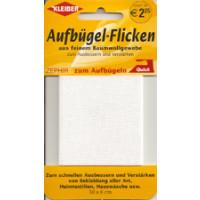 Kleiber Aufbügel-Flicken 100% BW 30x6 cm weiss
