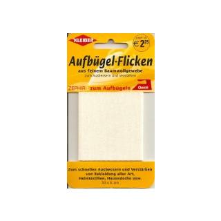 Kleiber Aufbügel-Flicken 100% BW 30x6 cm creme