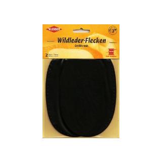 Kleiber Wildleder-Flecken Oval 16x10cm schwarz