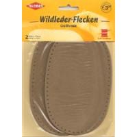 Kleiber Wildleder-Flecken Oval 16x10cm beige