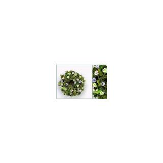 Blätter-Röschen-Kranz grün-flieder ø35cm
