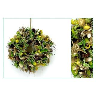 Wurzel Blätter Distel-Kranz grün-gelb-braun ø25cm