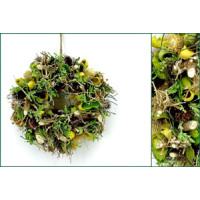 Wurzel Blätter Distel-Kranz grün-gelb-braun...