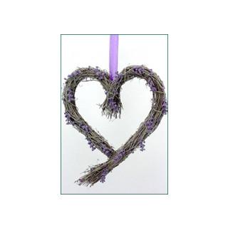 Reben-Herz Lavendel-Look 20x25cm