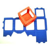 Tischlaternen - Zuschnitte klein Br. H.10cm x12cm  blau