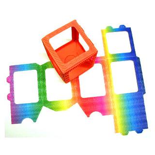 Tischlaternen - Zuschnitte klein  Br. H.10cm x12cm  regenbogen