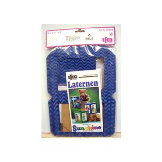 Laternen Bastelpackung -  blau SB