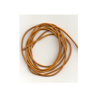 Lederband Ziege D= 1,5 mm L 1 m gelb