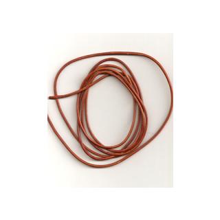 Lederband Ziege D= 1,5 mm L 1 m ocker