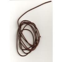 Lederband Ziege D= 1,5 mm L 1 m braun