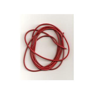 Lederband Ziege D= 1,5 mm L 1 m rot