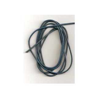 Lederband Ziege D= 1,5 mm L 1 m königsblau