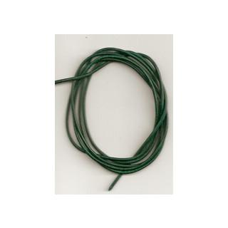 Lederband Ziege D= 1,5 mm L 1 m dkl. gruen