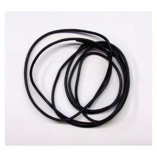 Lederband Ziege D= 1,5 mm L 1 m schwarz